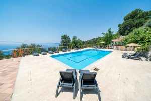 Faralia Hotel pool view in Faralya village Fethiye Turkey