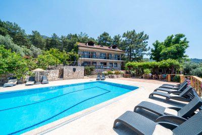 Faralia Hotel pool view in Faralya village Fethiye Turkey