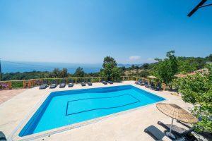 Hotel pool at Faralya village