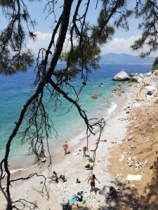 Aktaş beach close to Faralia Hotel in Faralya Village Fethiye Turkey