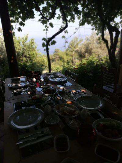 A la carte Sunset Restaurant of Faralia Hotel Fethiye Faralya village